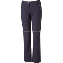 convert to short water proof breathable walking women's out door trouser side snap