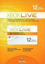 XBOX LIVE GOLD 12 MONTH SUBSCRIPTIONS - WORLDWIDE VALID