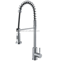 Brass Chrome Single Handle Pull Out Kitchen Basin Sink Faucet Mixer Tap w/ABS Spray