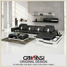 GANASI modern leather recliner sofa set,leather corner home sofa,fashion grey leather sectional sofa