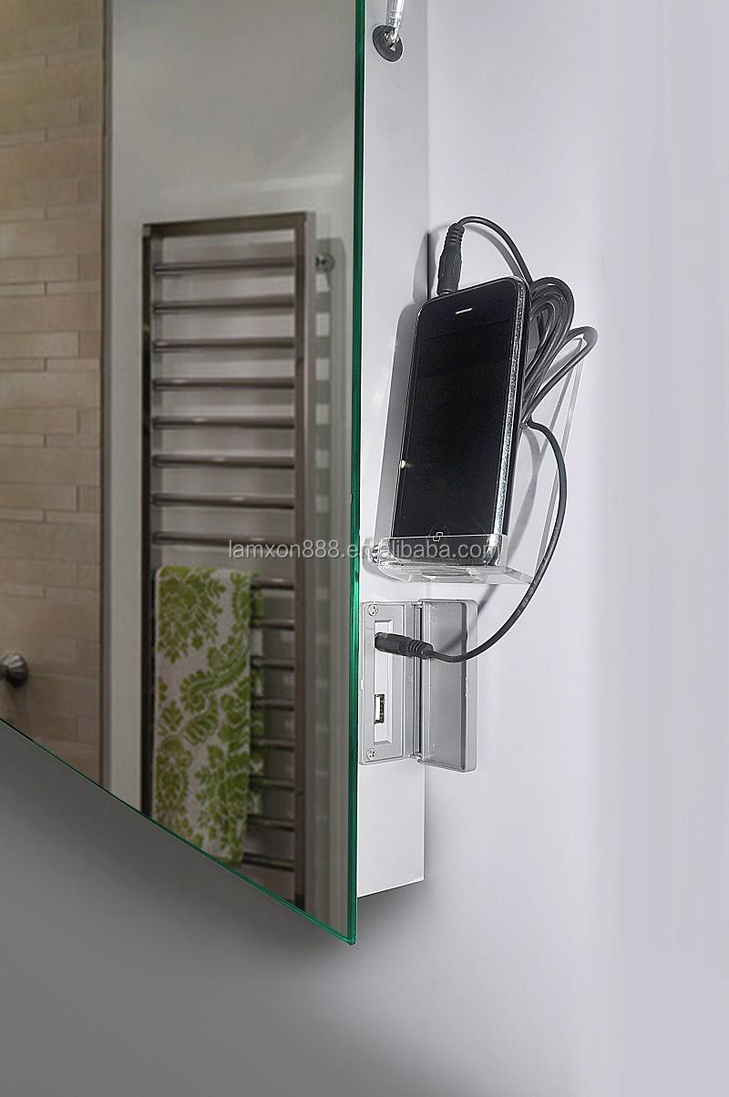 Haut de gamme h tel salle de bains miroir avec radio et mp3 et horloge multi - Radio salle de bain design ...