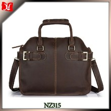 executive leather briefcase handbag for business men waterproof case for laptop
