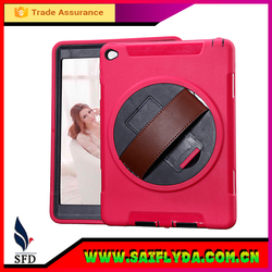 new design For ipad air leather case with Hand Strap , for ipad 5 case