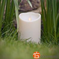 3.5*5 inch Ivory white luminara moving flame decorative candle