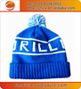 Hot sell winter knitted rolling up hats with poms poms