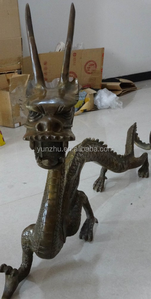 Chinese traditional dragon statue sculpture bronze copper
