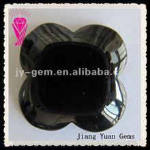 Flower Cut Lily 4 Black Onyx Jewellery Decoration Gemstone