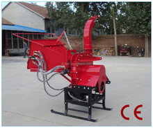 Lower price wood chipper for tractor with CE, hydraulic feeding