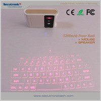 Min Wireless Keyboard For Ipad, Bluetooth Wireless Infrared Virtual Keyboard