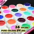 Venta al por mayor kit de uñas de gel, Gel ultravioleta del color puro, 20204 h