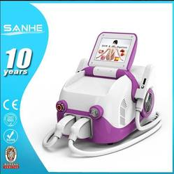 2015 Newest double handles IPL+SHR hair removal beauty machine with CE approved / performance best effective 808nm diode