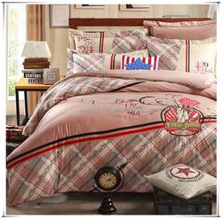Elegant european style 100% cotton reactive printed home sense bedding sets in sale