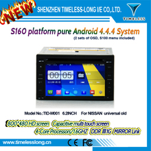 s160 2 Din Android 4.4 1024*600 Capacitive Screen 1.6G CPU Quad Core 1G RAM Car DVD For niss-an universal old With GPS Radio