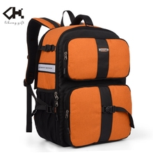 korean fashion 2015 travel light weight oranger colour waterproof oxford camera backpack photography backpack