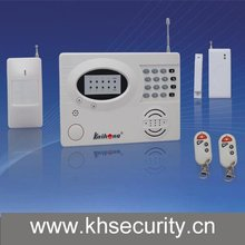 Wireless and Wired Intelligence Alarm with LED Display and Keyboard Input
