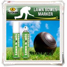 Autokem caliente venta de césped cuencos marcador, lawnbowls / petanca / petanca tiza para marcar aerosol, juez / refree