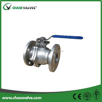 2 piece floating full port cf8m stainless steel ball valve