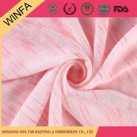 Custom design Luxury Colorful gots certified organic cotton knit fabric