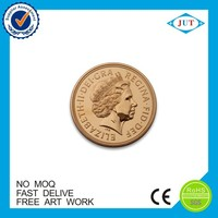 China factory custom high quality die casting brass soft enamel metal gold coin
