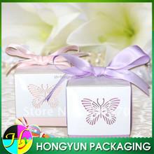 Beautiful laser cut wedding favor box wholesale in china