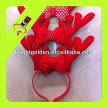 LED flash deer horn shape head bopper for christmas