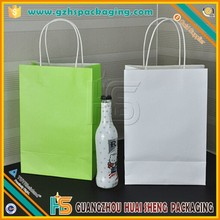 Eco promotional kraft paper shopping bags