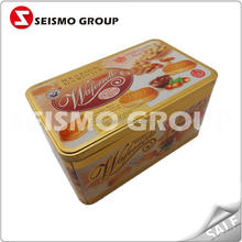 promotion gift tin box with pvc window dots pattern tin boxes for cookies