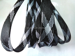 Polyester PET Wrap Expandable Braided Sleeving 40mm Black