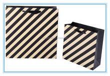 Unique London style stripes paper bag for shopping