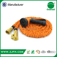 2016 Amazon Best selling Brass Fitting Flexible Expandable Garden Hose with 8 Function Spray gun
