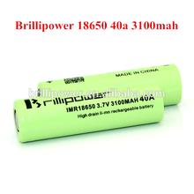 Pandora box mod Brillipower 18650 40amp 3100mah 40A vapor mod vapor mod box 3.7V rechargeable battery 40amp