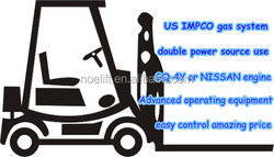 3000kg rated capacity lpg gas nissan engine forklift truck