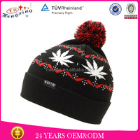 Black Jacquard walmart custom mens winter hats fashion