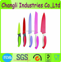 hot sale stainless steel color coating fruit knife colorful printing kitchen knife for home use