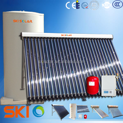 solar heating system for home : split water heater (two copper coil)