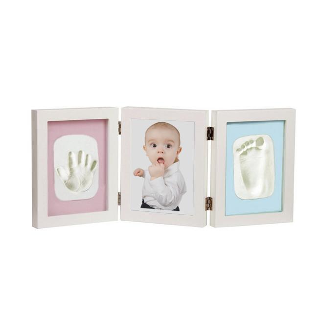 Bebés y Niños Huella handprint Arcilla Huella Especial DIY Arcilla de Secado Marco de Fotos