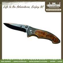 True Adventure TA5-003 Sales Promotion Wooden Handle Knife Damascus Folding Knife