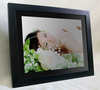 """hot selling wooden digital picture frame 12"""" with usb and sd card for auto play when power on"""
