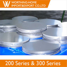 201 NO.4 Surface stainless steel circle with produced factory