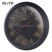 time zone simple retro metal map wall world clocks to buy