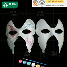 Paper masquerade mask Mask/Silver Trim + Papers On Stick MASQUERADE EYE MASK MASKED BALL