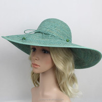 New Coming Natural Madagascar Raffia Straw Hat For Ladies High Quality