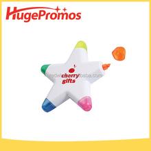 Printed LOGO Star Highlight Pen for Promotion