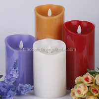 moving wick led flameless candle with timer flameless led candles