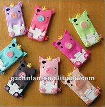 Wholesale price For Iphone4/4S fashion design pig silicon case