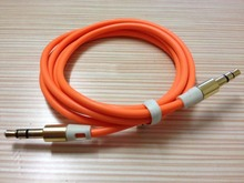 Cheap 3.5mm jack Flat AUX Cable For iPhone 4s/5 Samsung