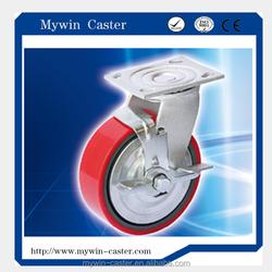 4 Inch Heavy Duty Equipment Swivel Caster Wheel With Side Brake