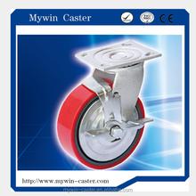 4Inch Heavy Duty Equipment Swivel Caster Wheel With Side Brake