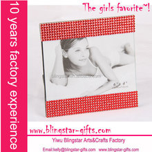 wholesale red rhinestone beaded picture frame