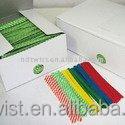 paper stripe twist ties/2000pcs box twist tie